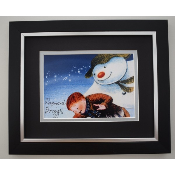 Raymond Briggs SIGNED 10X8 FRAMED Photo Autograph Display TV Snowman Memorabilia  AFTAL & COA perfect gift
