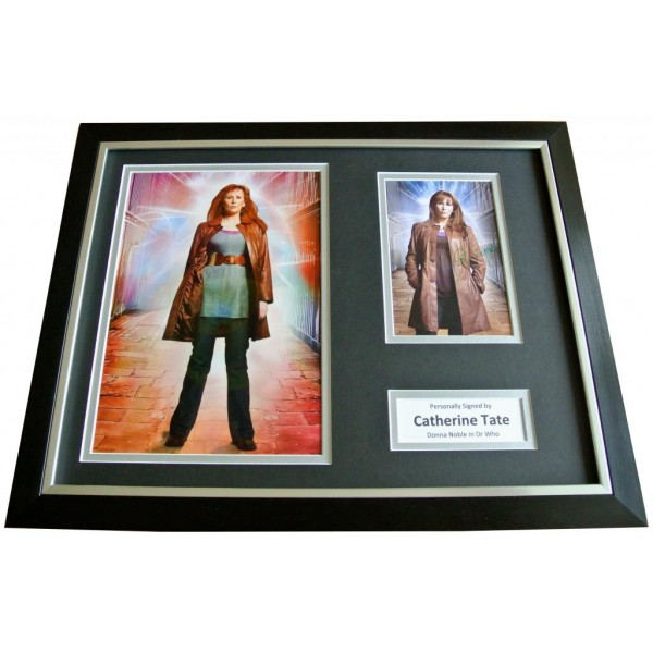 CATHERINE TATE Signed FRAMED Photo Autograph 16x12 Display DOCTOR WHO & COA  PERFECT GIFT