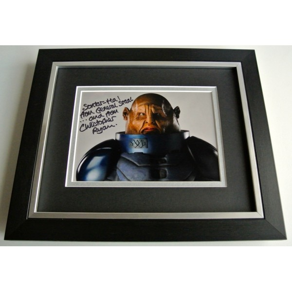 Christopher Ryan SIGNED 10X8 FRAMED Photo Autograph Display Doctor Who TV AFTAL & COA FILM Memorabilia PERFECT GIFT