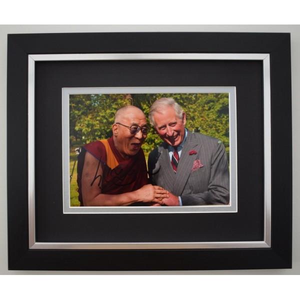 Dalai Lama SIGNED 10X8 FRAMED Photo Autograph Display Tenzin Gyatso  Memorabilia  AFTAL & COA perfect gift