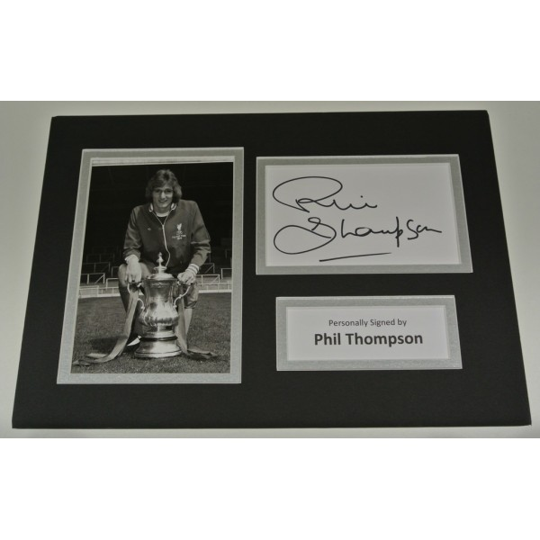 Phil Thompson Signed Autograph A4 photo mount display Liverpool Football  AFTAL & COA SPORT Memorabilia PERFECT GIFT