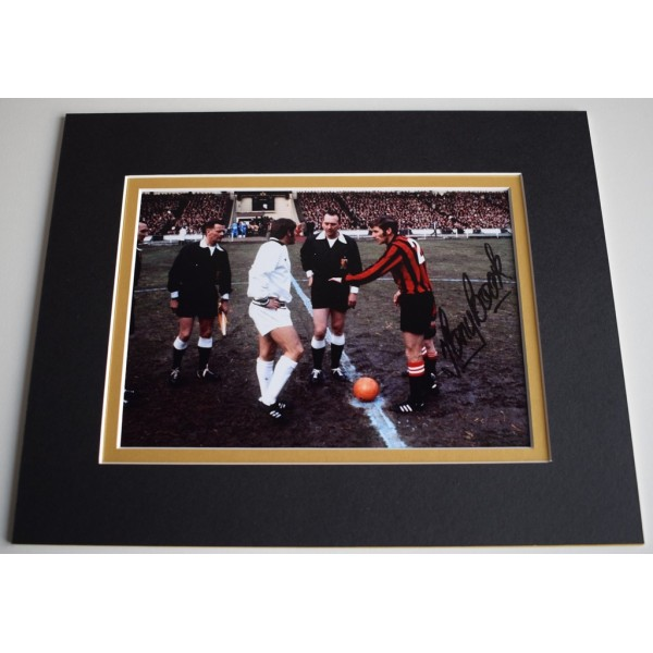 Tony Book Signed Autograph 10x8 photo mount display Manchester City AFTAL &  COA Memorabilia