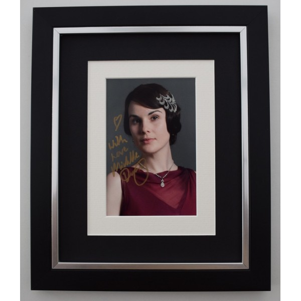 Michelle Dockery SIGNED 10X8 FRAMED Photo Autograph Display TV Downton Abbey    Memorabilia  AFTAL & COA perfect gift