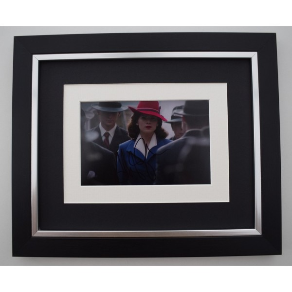 Hayley Atwell SIGNED 10X8 FRAMED Photo Autograph Display Captain America Film   Memorabilia  AFTAL & COA perfect gift