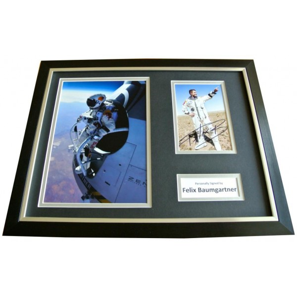 FELIX BAUMGARTNER Signed FRAMED Photo Autograph 16x12 Display SPACE JUMP & COA        PERFECT GIFT