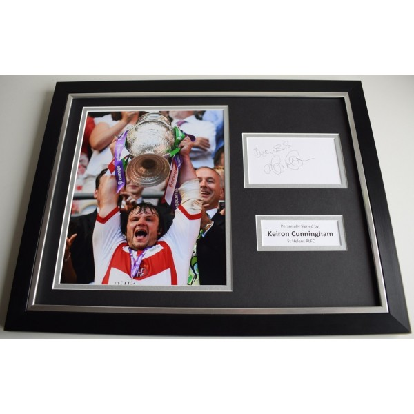 Keiron Cunningham SIGNED FRAMED Photo Autograph 16x12 display St Helens AFTAL & COA Memorabilia PERFECT GIFT