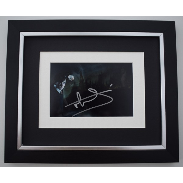 Matthew Lewis SIGNED 10X8 FRAMED Photo Autograph Display Harry Potter Film   Memorabilia  AFTAL & COA perfect gift