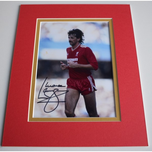 Mark Lawrenson Signed Autograph 10x8 photo mount display Liverpool Football AFTAL & COA Memorabilia PERFECT GIFT