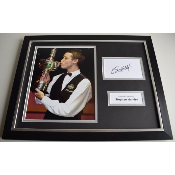 Stephen Hendry SIGNED FRAMED Photo Autograph 16x12 display Snooker AFTAL & COA Memorabilia PERFECT GIFT