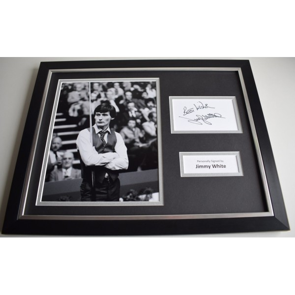 Jimmy White SIGNED FRAMED Photo Autograph 16x12 display Snooker AFTAL & COA Memorabilia PERFECT GIFT