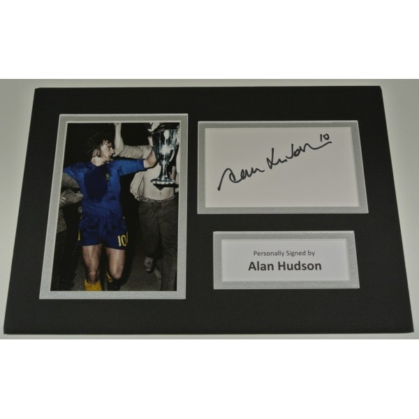Alan Hudson Signed Autograph A4 photo mount display Chelsea Football AFTAL COA SPORT Memorabilia PERFECT GIFT