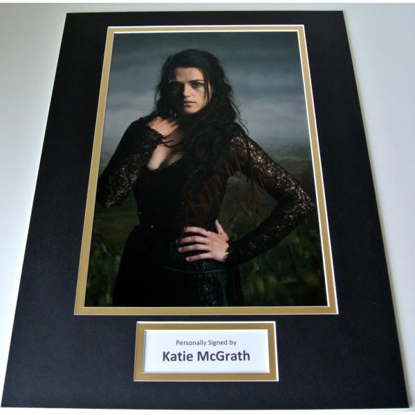 Katie McGrath Signed Autograph 16x12 photo display TV Melin Morgana & COA