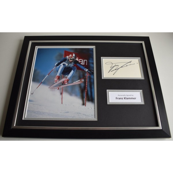 Franz Klammer SIGNED FRAMED Photo Autograph 16x12 display Olympic Skier PROOF AFTAL & COA Memorabilia PERFECT GIFT