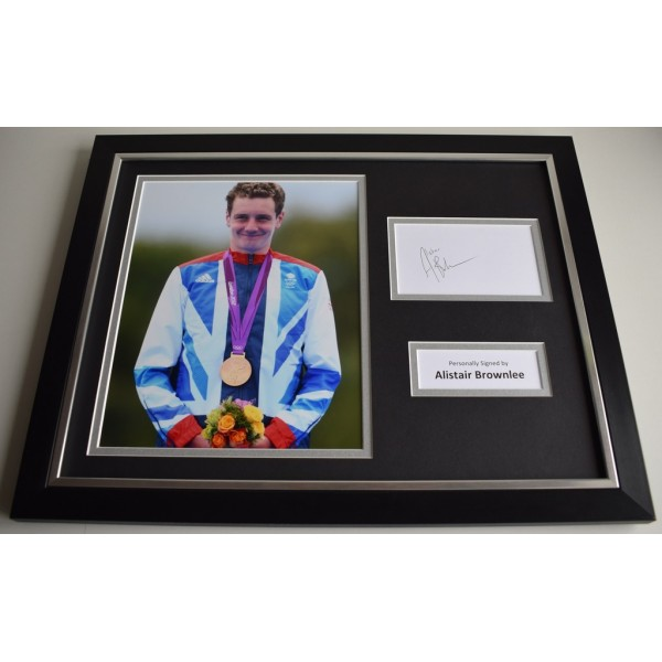 Alistair Brownlee SIGNED FRAMED Photo Autograph 16x12 display Olympic Triathlon AFTAL & COA Memorabilia PERFECT GIFT