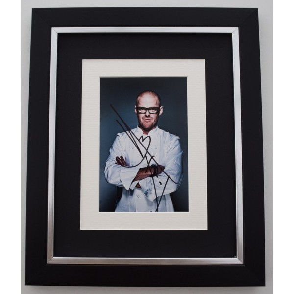 Heston Blumenthal SIGNED 10X8 FRAMED Photo Autograph Display TV Chef  Memorabilia  AFTAL & COA perfect gift