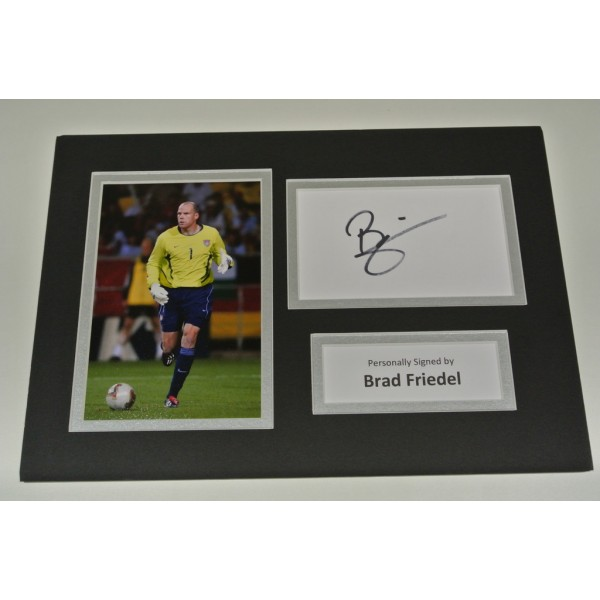Brad Friedel Signed Autograph A4 photo mount display Tottenham Hotspur AFTAL COA SPORT Memorabilia PERFECT GIFT