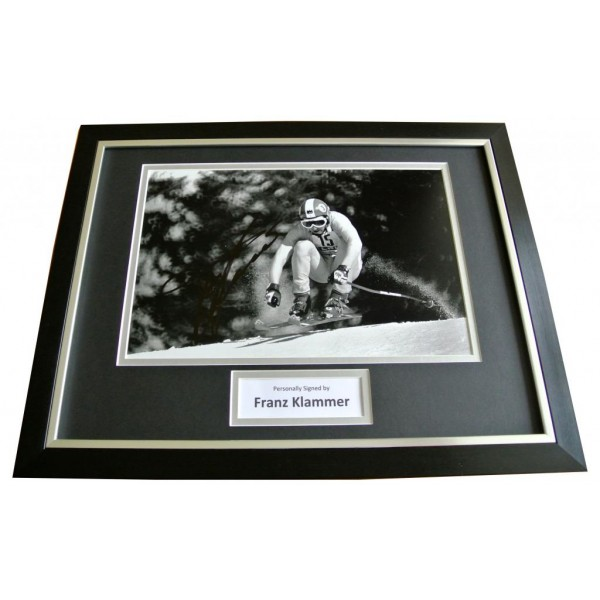 FRANZ KLAMMER Signed FRAMED Photo Genuine Autograph 16x12 Display Skiing & COA     PERFECT GIFT