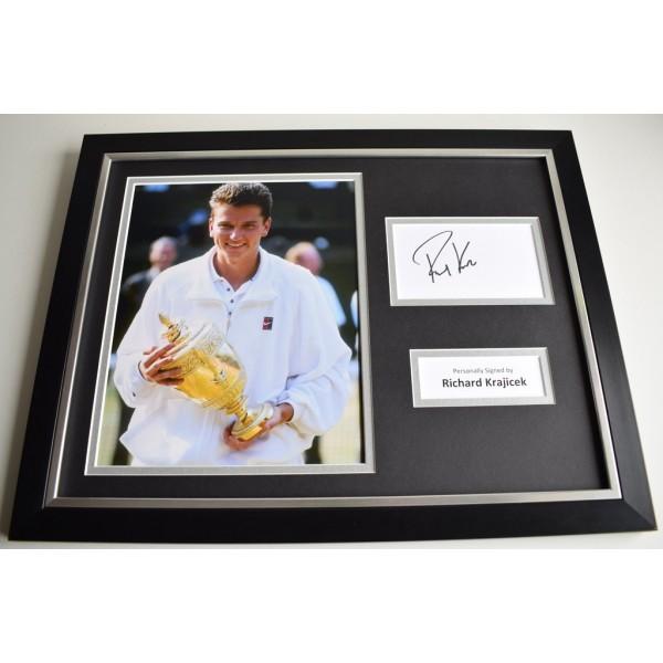 Richard Krajicek SIGNED FRAMED Photo Autograph 16x12 display Tennis  AFTAL & COA Memorabilia PERFECT GIFT