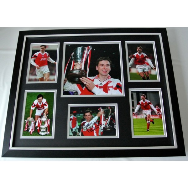 Alan Smith SIGNED FRAMED Photo Autograph Huge display Arsenal Football COA Memorabilia PERFECT GIFT