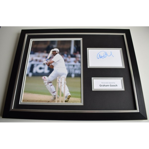 Graham Gooch SIGNED FRAMED Photo Autograph 16x12 display Cricket AFTAL & COA Memorabilia PERFECT GIFT
