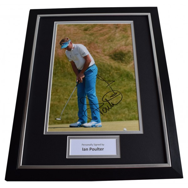 Ian Poulter SIGNED FRAMED Photo Autograph 16x12 display Golf Sport Memorabilia  AFTAL & COA perfect gift