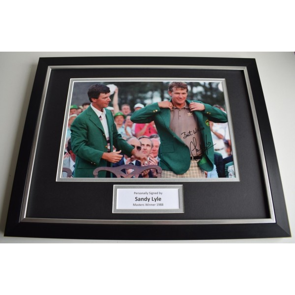 Sandy Lyle SIGNED FRAMED Photo Mount Autograph 16x12 display Golf  AFTAL & COA Memorabilia PERFECT GIFT