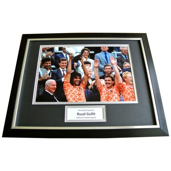 RUUD GULLIT Signed FRAMED Photo Autograph 16x12 Display HOLLAND Football & COA       PERFECT GIFT