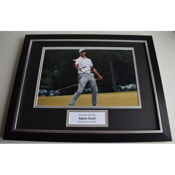 Adam Scott SIGNED FRAMED Photo Mount Autograph 16x12 display Golf  AFTAL & COA Memorabilia PERFECT GIFT
