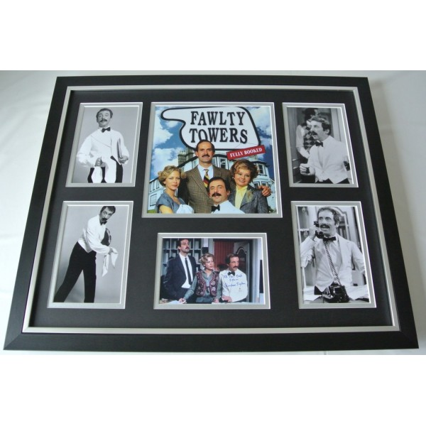 Andrew Sachs SIGNED FRAMED Photo Autograph Huge display Fawlty Towers AFTAL COA Memorabilia PERFECT GIFT
