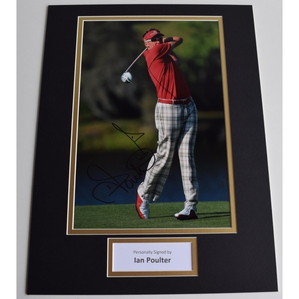 Ian Poulter SIGNED autograph 16x12 photo display golf  Memorabilia  AFTAL & COA perfect gift