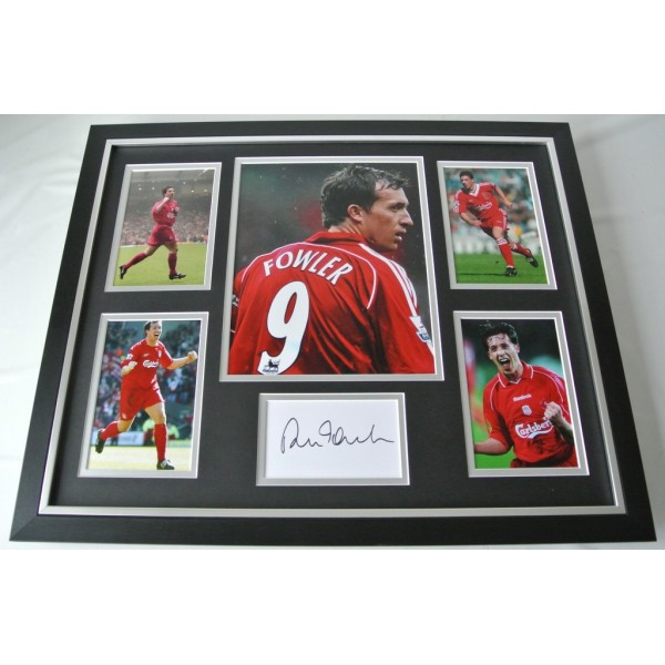 Robbie Fowler SIGNED FRAMED Photo Autograph Huge display Liverpool PROOF COA AFTAL SPORT Memorabilia PERFECT GIFT