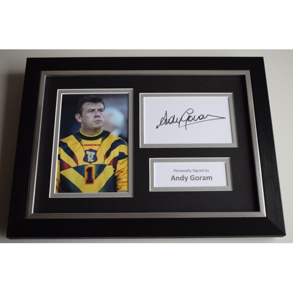 Andy Goram Signed A4 FRAMED photo Autograph display Rangers Football PROOF  AFTAL & COA Memorabilia PERFECT GIFT