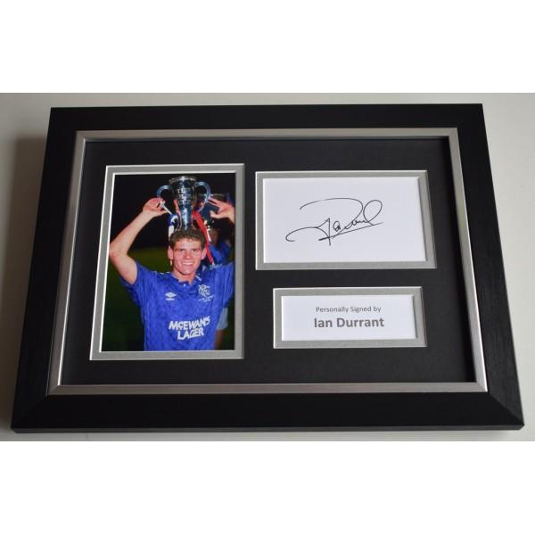 Ian Durrant Signed A4 FRAMED photo Autograph display Rangers Football   AFTAL & COA Memorabilia PERFECT GIFT