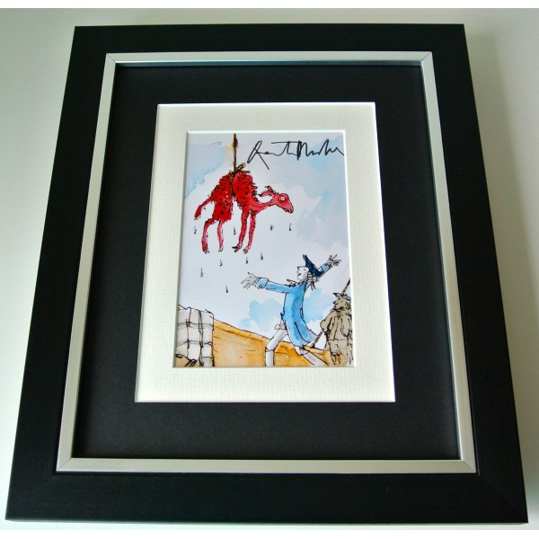 Quentin Blake SIGNED 10X8 FRAMED Photo Autograph Display Roald Dahl Art COA Perfect Gift