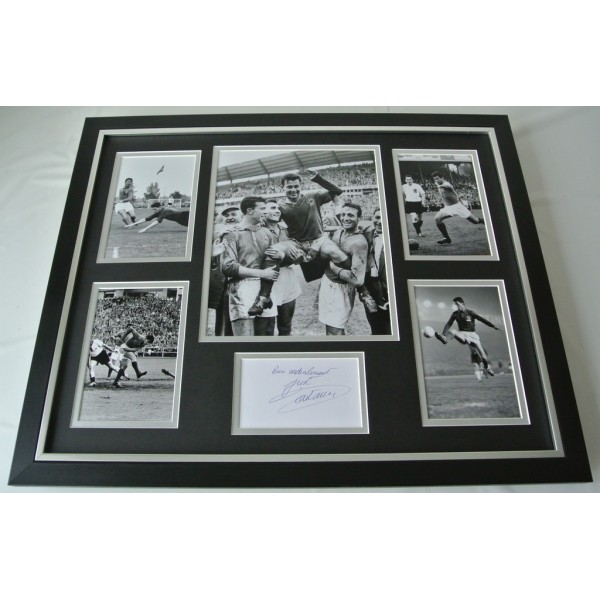 Just Fontaine SIGNED FRAMED Photo Autograph Huge display France Football COA AFTAL SPORT Memorabilia PERFECT GIFT