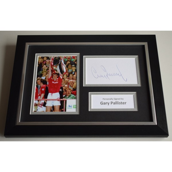 Gary Pallister Signed A4 FRAMED photo Autograph display Manchester United   AFTAL & COA Memorabilia PERFECT GIFT