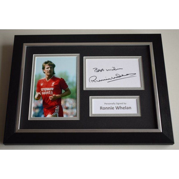 Ronnie Whelan Signed A4 FRAMED photo Autograph display Liverpool Football  AFTAL & COA Memorabilia PERFECT GIFT