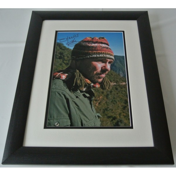 Karl Pilkington SIGNED FRAMED Photo Autograph 16x12 LARGE display Idiot Abroad COA AFTAL TV Memorabilia PERFECT GIFT