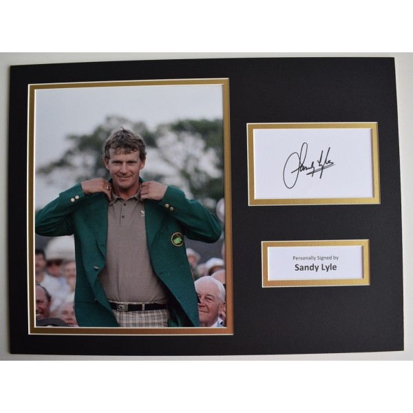 Sandy Lyle SIGNED autograph 16x12 photo display Golf Sport   Memorabilia  AFTAL & COA perfect gift