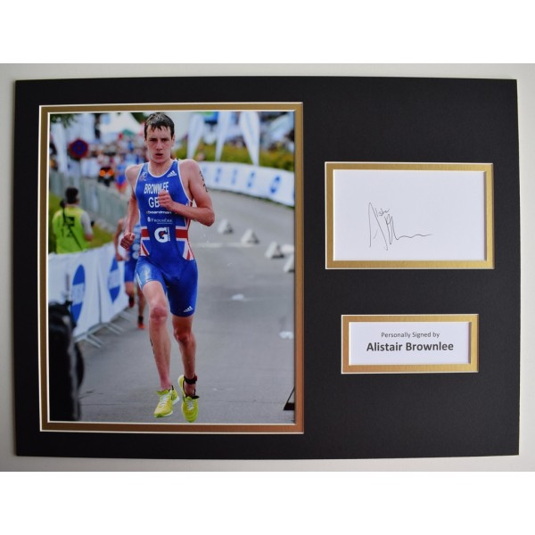 Alistair Brownlee SIGNED autograph 16x12 photo display Olympic    Memorabilia  AFTAL & COA perfect gift