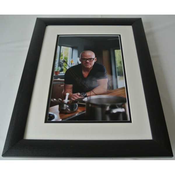 Heston Blumenthal SIGNED FRAMED Photo Autograph 16x12 LARGE display TV Chef COA AFTAL  Memorabilia PERFECT GIFT