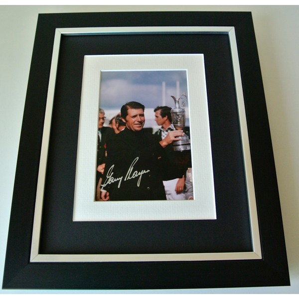 Gary Player SIGNED 10X8 FRAMED Photo Autograph Display Golf Memorabilia & COA Perfect Gift