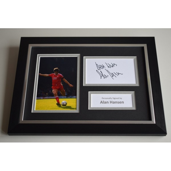 Alan Hansen Signed A4 FRAMED photo Autograph display Liverpool Football  AFTAL & COA Memorabilia PERFECT GIFT