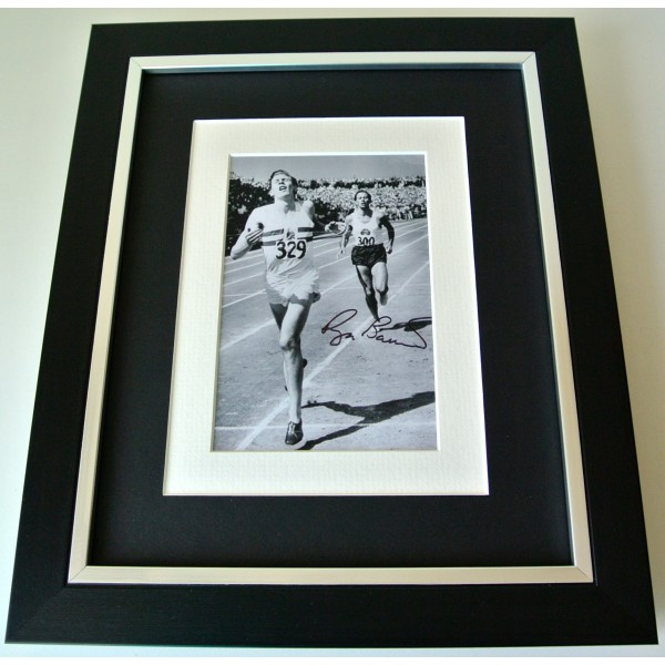 Roger Bannister SIGNED 10X8 FRAMED Photo Autograph Display 4 Minute Mile COA Perfect Gift