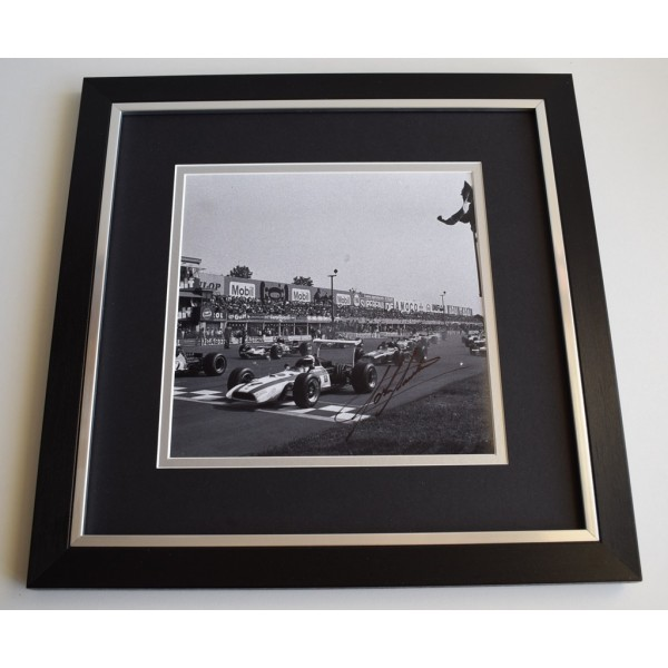 John Surtees SIGNED Framed LARGE Square Photo Autograph display Formula One   Memorabilia  AFTAL & COA perfect gift