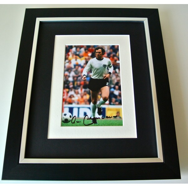 Franz Beckenbauer SIGNED 10X8 FRAMED Photo Autograph Display Germany & COA Perfect Gift