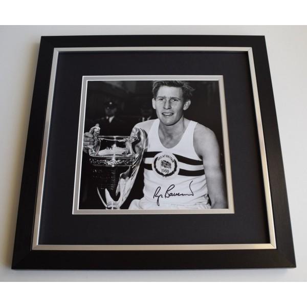 Roger Bannister SIGNED Framed LARGE Square Photo Autograph display Athletics  Memorabilia  AFTAL & COA perfect gift