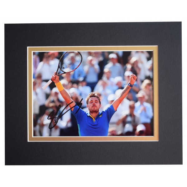 Stanislas Wawrinka Signed Autograph 10x8 photo display Tennis Sport  AFTAL  COA Memorabilia PERFECT GIFT