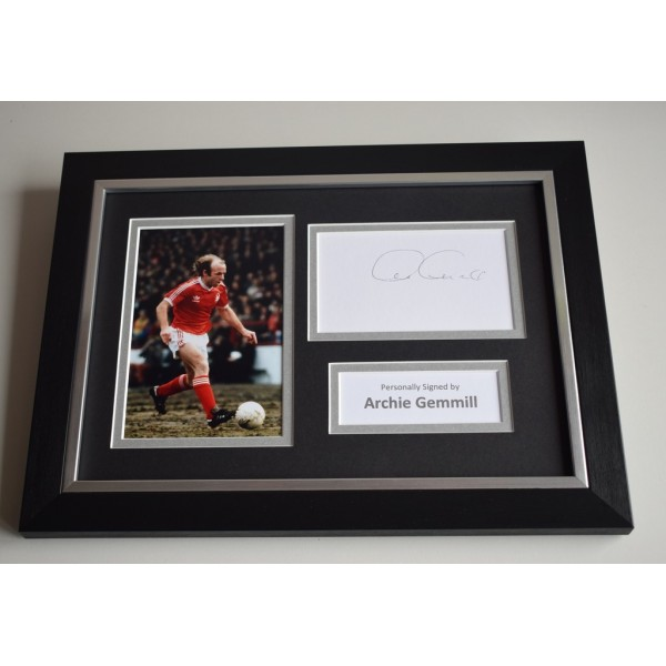 Archie Gemmill Signed A4 FRAMED photo Autograph display Nottingham Forest AFTAL & COA Memorabilia PERFECT GIFT