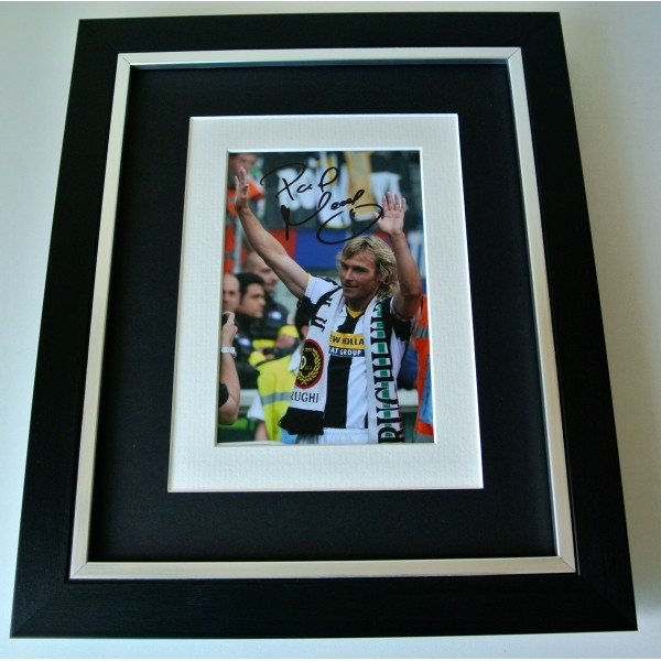 Pavel Nedved SIGNED 10X8 FRAMED Photo Autograph Display Juventus Football & COA Perfect Gift